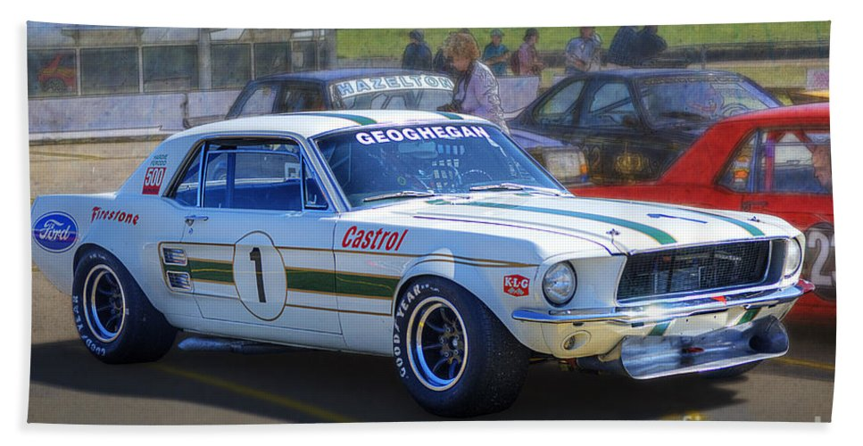 Ford Hand Towel featuring the photograph Geoghegan's Mustang by Stuart Row