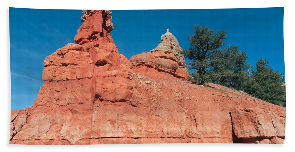 Landscape Hand Towel featuring the photograph Geological Forces At Red Canyon by John M Bailey