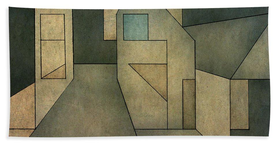 Geometric Bath Towel featuring the digital art Geometric Abstraction II by David Gordon