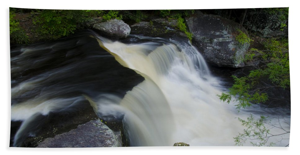 George Bath Sheet featuring the photograph George W Childs Park Waterfall by Bill Cannon