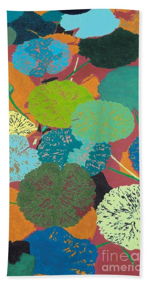 Landscape Bath Sheet featuring the painting Georgia Heat by Allan P Friedlander
