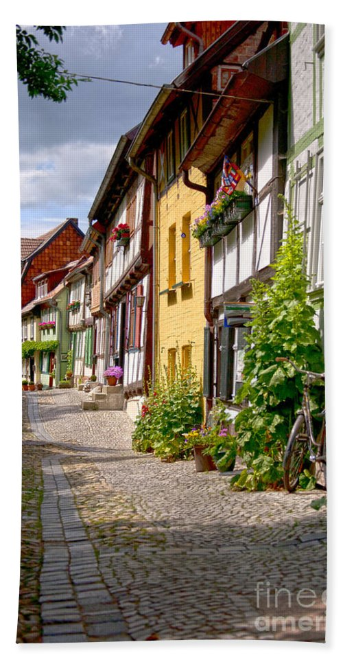 Quedlinburg Bath Sheet featuring the photograph German Old Village Quedlinburg by Heiko Koehrer-Wagner
