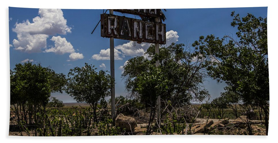 Route 66 Hand Towel featuring the photograph Gho Ranch by Angus Hooper Iii