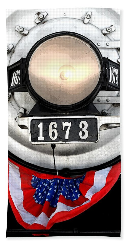 Railroad Bath Sheet featuring the photograph Ghost Engine by Joe Kozlowski