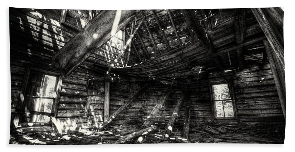 Architecture Bath Sheet featuring the photograph Ghost House Hd by Jakub Sisak