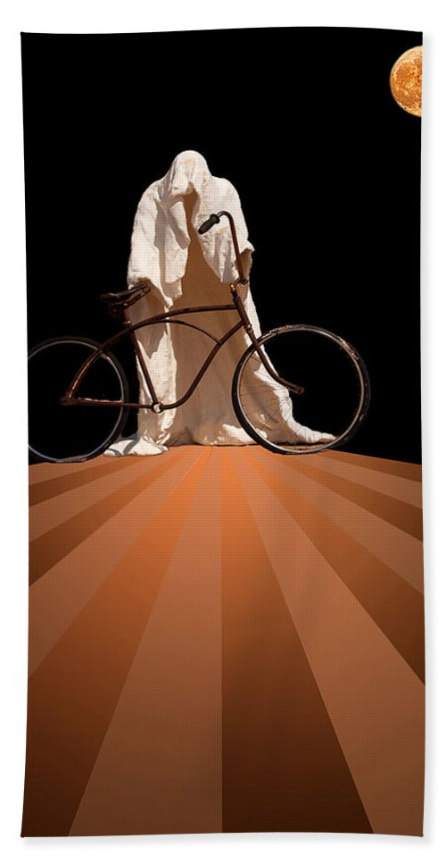 Fantasy Hand Towel featuring the photograph Ghost Rider by Maria Coulson