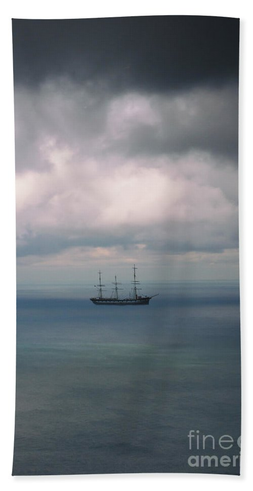 Water Hand Towel featuring the photograph Ghost Ship by Margie Hurwich