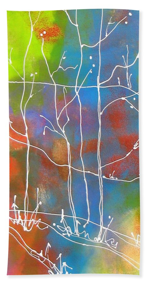 Trees Bath Sheet featuring the painting Ghost Trees by Louise Adams