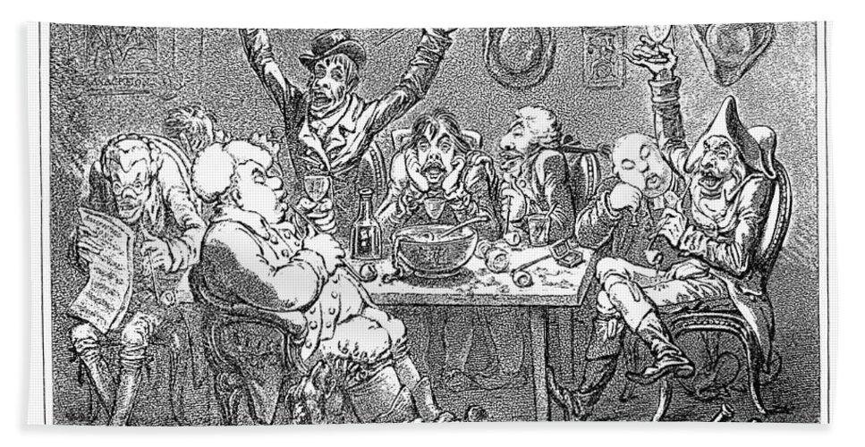 1801 Bath Sheet featuring the photograph Gillray: Tavern, 1801 by Granger