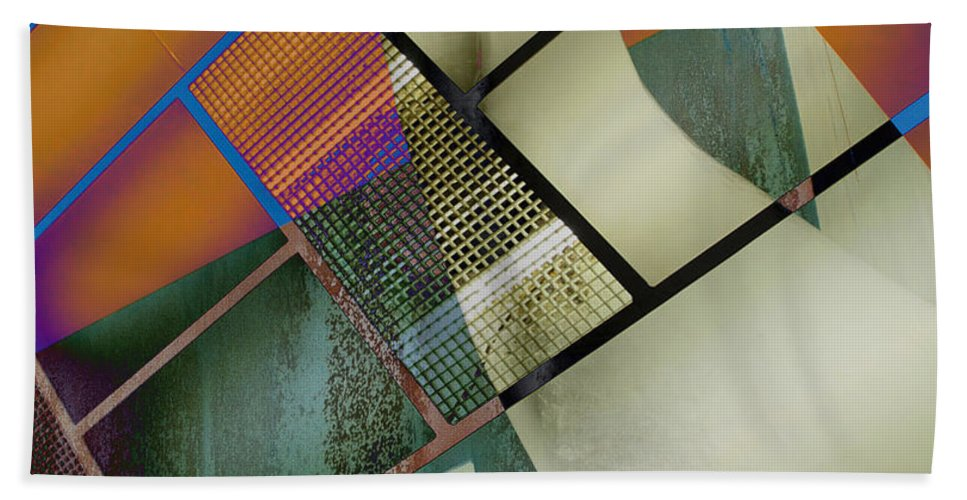 Abstract Bath Sheet featuring the photograph Gimmie Back by The Artist Project
