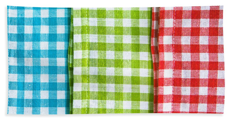 Abstract Bath Sheet featuring the photograph Gingham by Tom Gowanlock