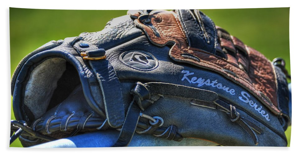 Baseball Hand Towel featuring the photograph Give Me A Hand And I'll Give You Some Play by Michael Frank Jr