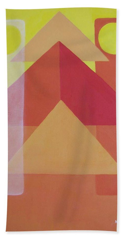Giza Hand Towel featuring the painting Giza by Michael TMAD Finney AKA MTEE