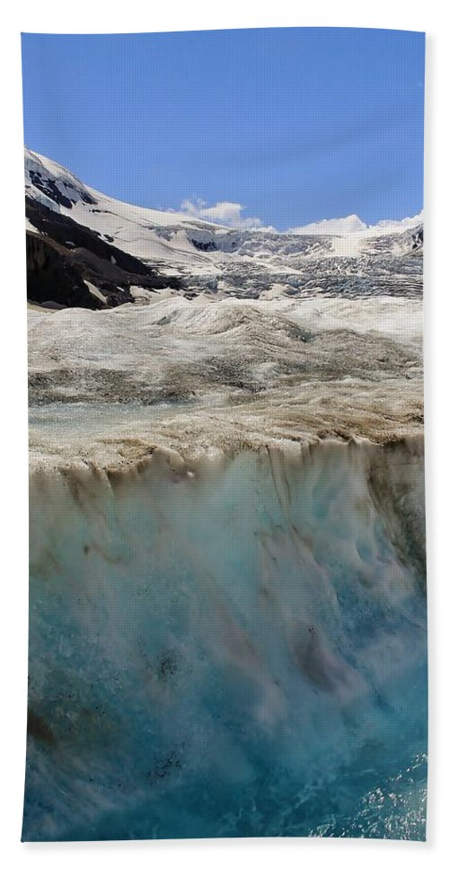 Athabasca Glacier Bath Sheet featuring the photograph Glacial Meltwater 3 by Mo Barton