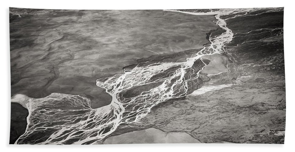 Iceland Bath Sheet featuring the photograph Glacial Rivers by For Ninety One Days