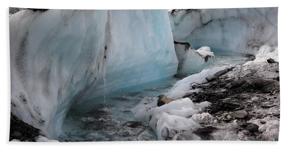 Glacier Hand Towel featuring the photograph Glacial Waters by Stacey May
