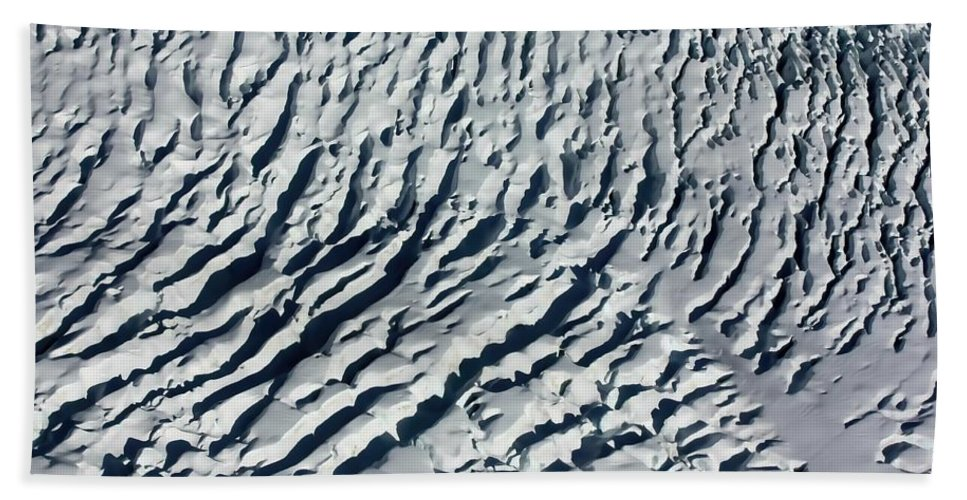 New Zealand Hand Towel featuring the photograph Glacier Abstract by Amanda Stadther