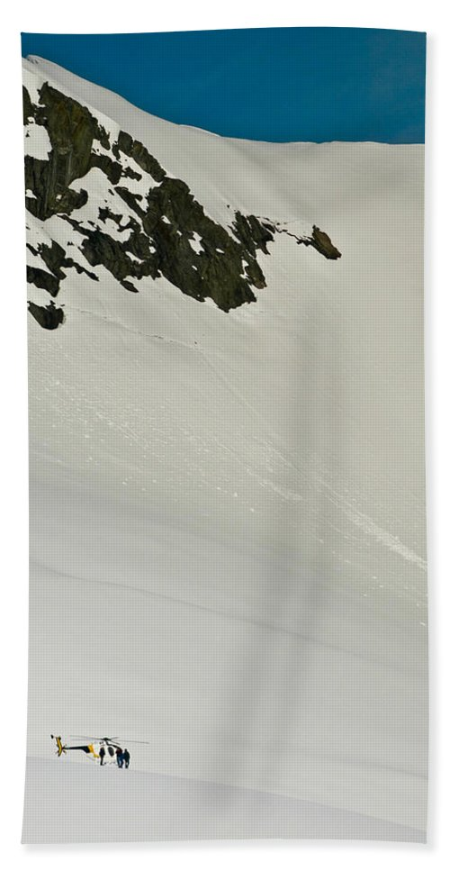 Canvas Hand Towel featuring the photograph Glacier by Mark Llewellyn