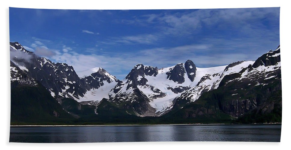 Alaska Hand Towel featuring the photograph Glacier View by Aimee L Maher ALM GALLERY