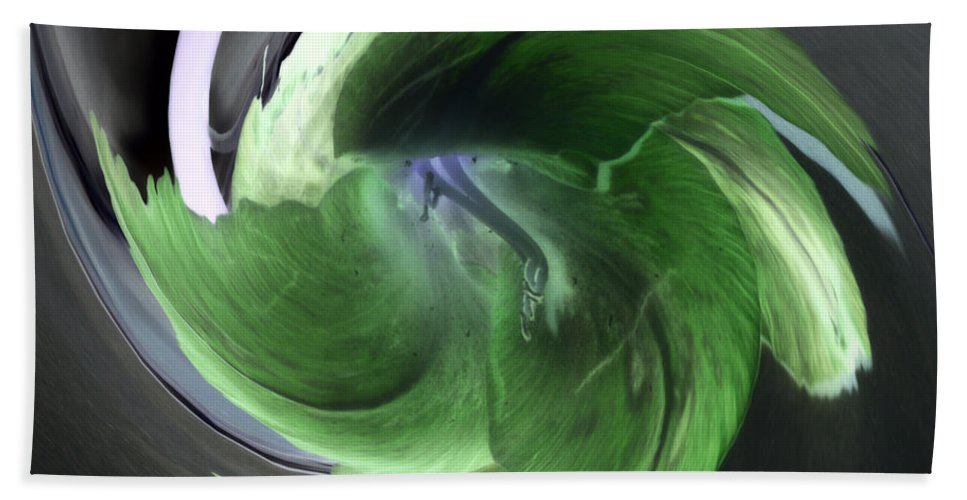 Abstract Phototgraphy Bath Towel featuring the photograph Gladiolus Abstract by Paulina Roybal