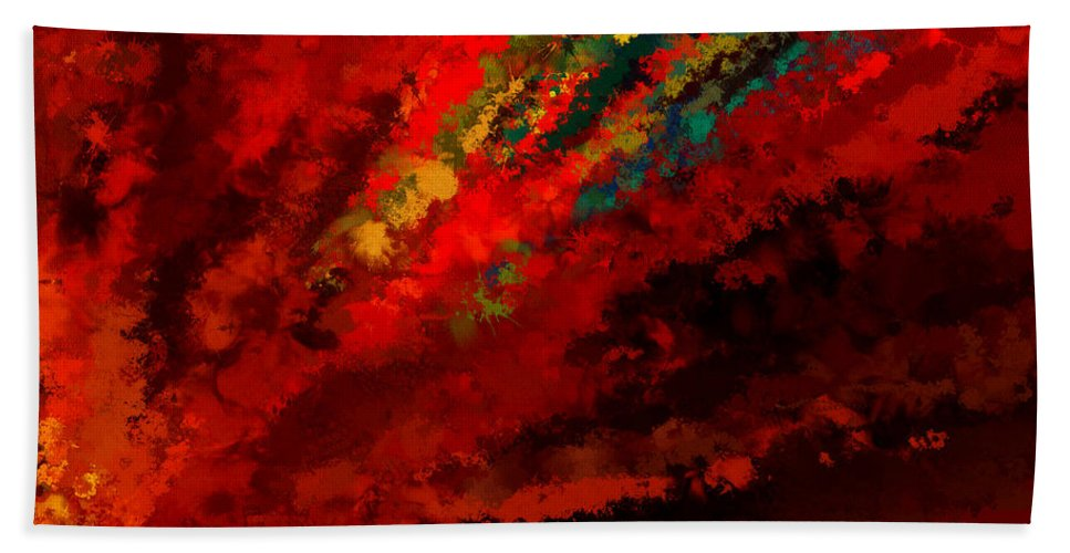 Colors Hand Towel featuring the painting Glance Of Colors by Lourry Legarde