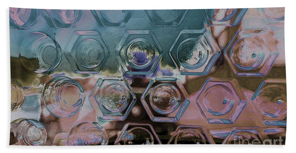Glass Bath Sheet featuring the photograph Glass Abstract II by Debbie Portwood