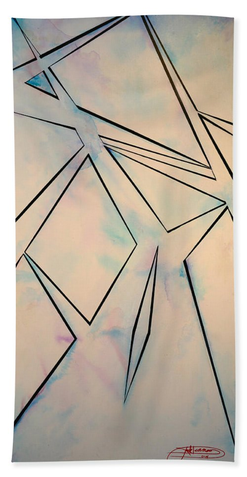 Jack Diamond Hand Towel featuring the painting Glass And Sky 2 by Jack Diamond