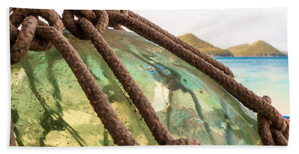 Saint Lucia Bath Sheet featuring the photograph Glass Ornament by Ferry Zievinger