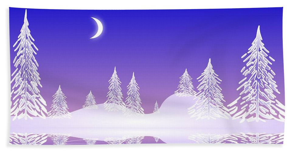Cool Bath Towel featuring the digital art Glass Winter by Anastasiya Malakhova