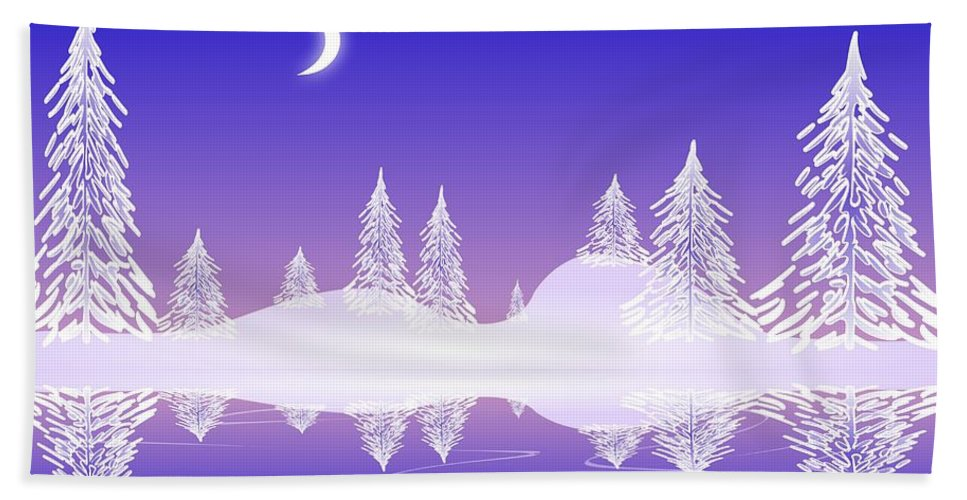 Cool Hand Towel featuring the digital art Glass Winter by Anastasiya Malakhova