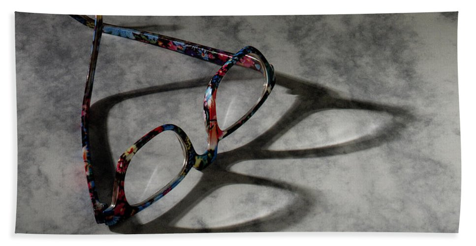 Glasses Bath Sheet featuring the photograph Glasses 1b by Gary Gingrich Galleries