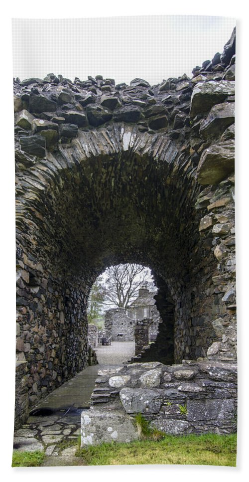 Glenluce Abbey Hand Towel featuring the photograph Glenluce Abbey - 3 by Paul Cannon