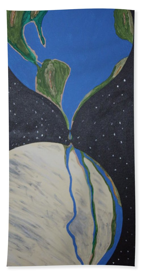 Enviromental Hand Towel featuring the painting Global Warming by Dean Stephens
