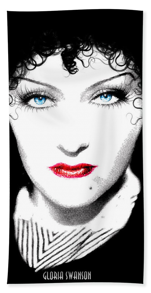 Gloria Bath Sheet featuring the digital art Gloria Swanson - Edith Piaf by Quim Abella
