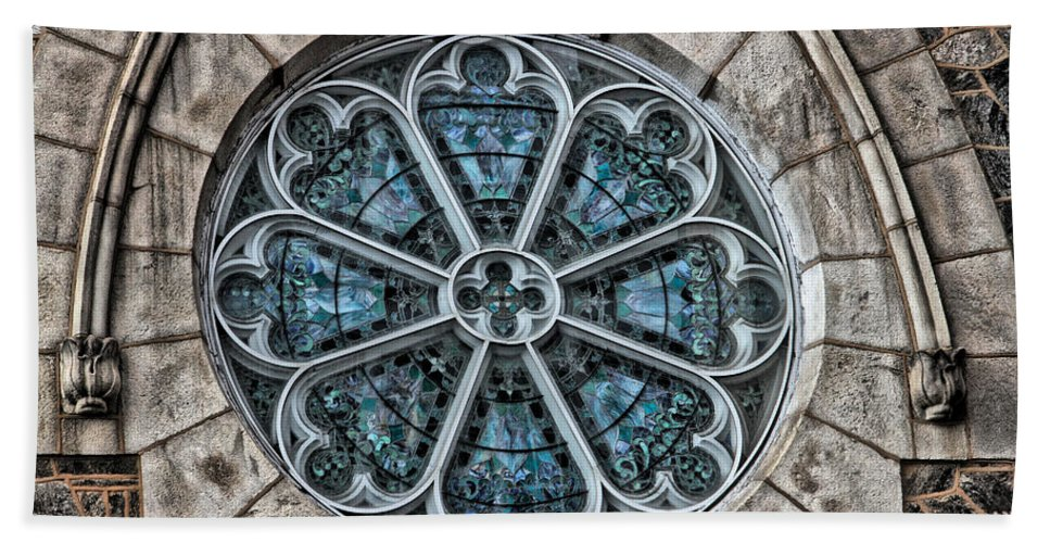 Germantown Bath Sheet featuring the photograph Glorious Church Stained Glass by Alice Gipson