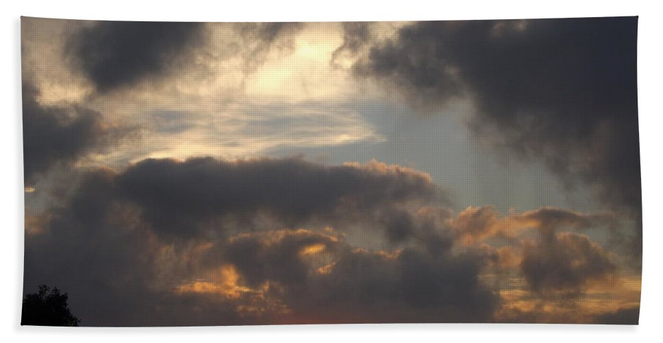 Sunrise Hand Towel featuring the photograph Glorious Golden Sunrise by Jussta Jussta
