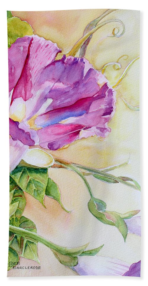 Flower Hand Towel featuring the painting Glorious Morning by Deb Harclerode