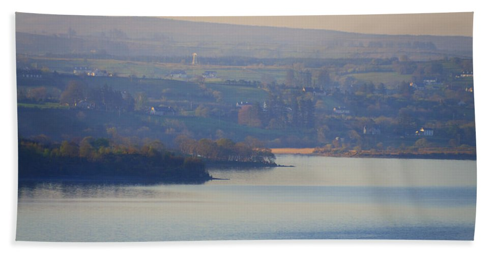 Glorious Hand Towel featuring the photograph Glorious Morning On Lough Eske - Donegal Ireland by Bill Cannon