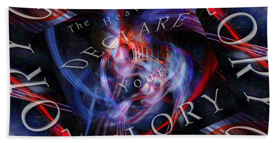 Space Hand Towel featuring the digital art Glory 2 by Margie Chapman