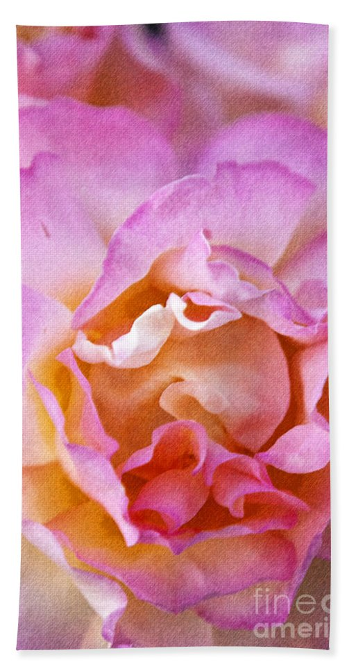 Rose Bath Sheet featuring the photograph Glow From Within by David Millenheft