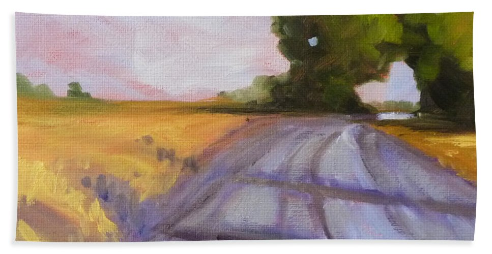Oregon Hand Towel featuring the painting Glow by Nancy Merkle