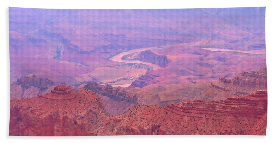 Grand Canyon Landscapes Hand Towel featuring the photograph Glowing Colors Of The Grand Canyon by John Malone