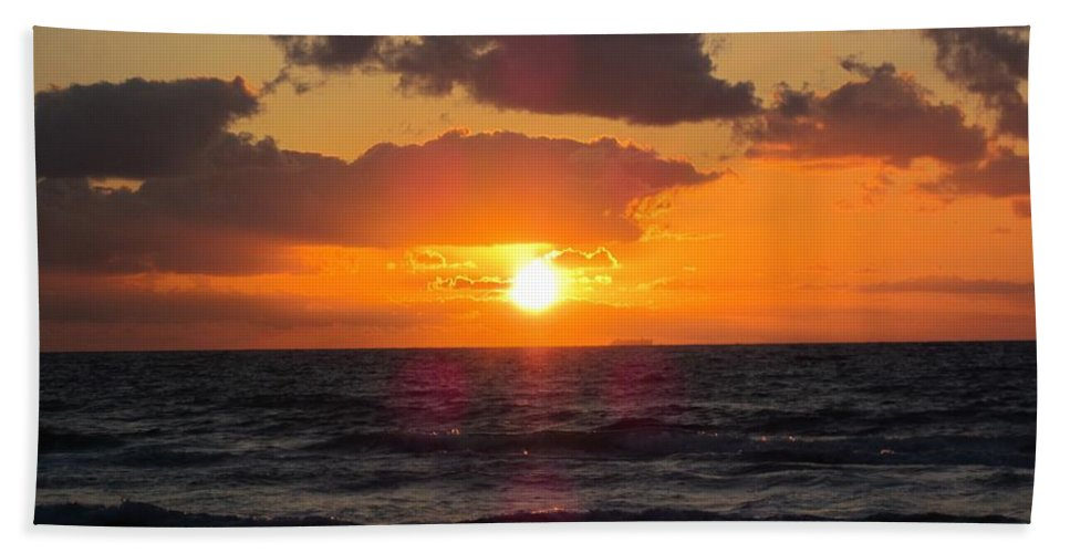 Florida Hand Towel featuring the photograph Glowing Sunrise by MTBobbins Photography