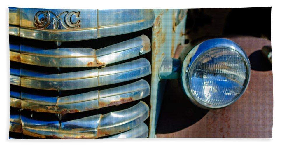 Gmc Truck Grille Emblem Bath Sheet featuring the photograph Gmc Truck Grille Emblem by Jill Reger
