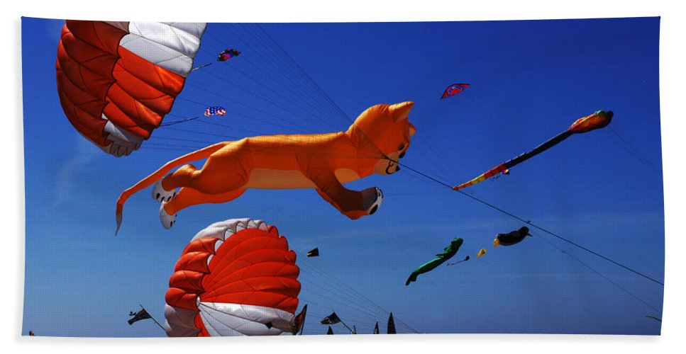 Kite Bath Sheet featuring the photograph Go Fly A Kite 1 by Bob Christopher