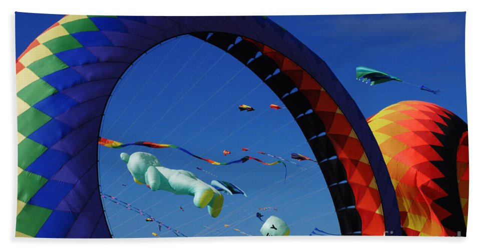 Kite Bath Sheet featuring the photograph Go Fly A Kite 2 by Bob Christopher