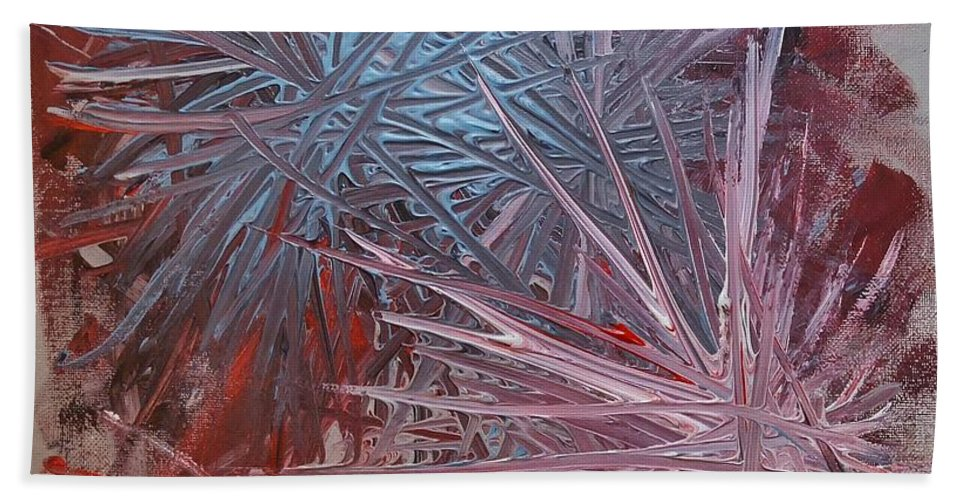 Acrylic Bath Sheet featuring the painting Go Neutral Abstract by Anne Clark