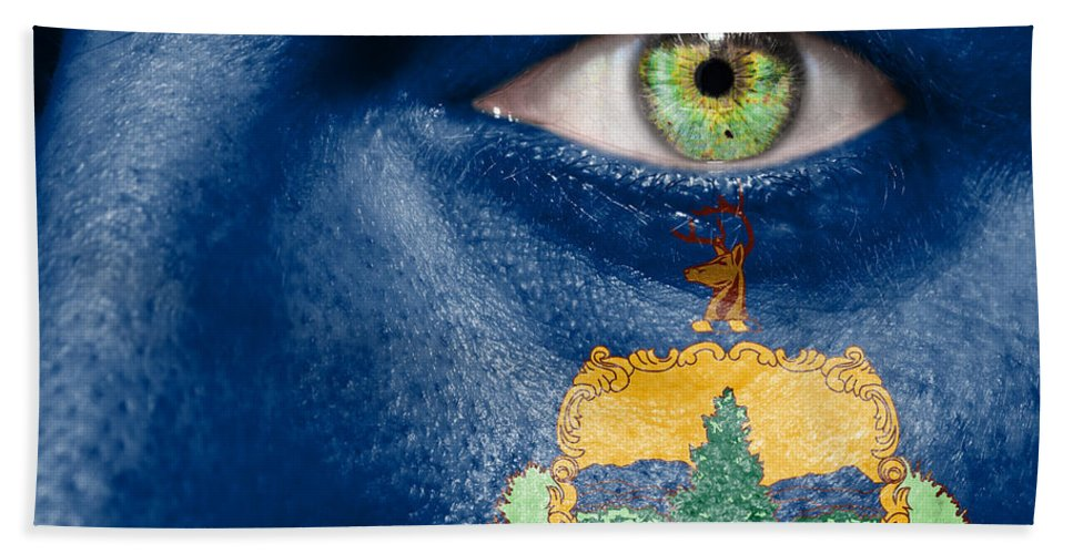 Art Hand Towel featuring the photograph Go Vermont by Semmick Photo