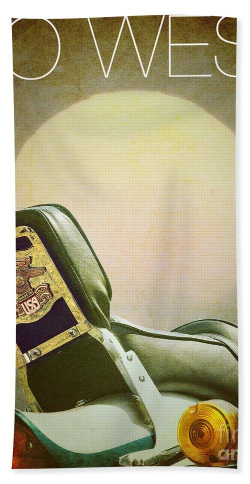 Vertical Bath Sheet featuring the photograph Go West by Edmund Nagele