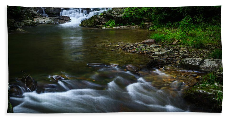 River Hand Towel featuring the photograph Go With The Flow by Keith Allen